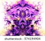 valkyrie in a lion's mask and... | Shutterstock . vector #574194904