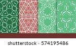 set of decorative floral...   Shutterstock .eps vector #574195486