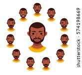 american african men facial... | Shutterstock .eps vector #574198669
