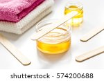 wax for depilation on white... | Shutterstock . vector #574200688