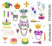 mardi gras carnival elements... | Shutterstock .eps vector #574202140