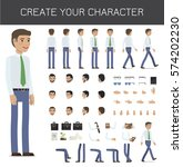 create your character... | Shutterstock .eps vector #574202230