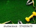 concept preparing to fitness... | Shutterstock . vector #574203670