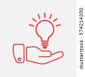 idea icon flat.  | Shutterstock .eps vector #574214350