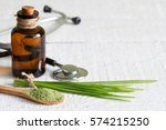 alternative medicine concept... | Shutterstock . vector #574215250