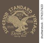 superior standard vintage.denim ... | Shutterstock .eps vector #574217623