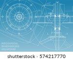 mechanical engineering drawings.... | Shutterstock .eps vector #574217770