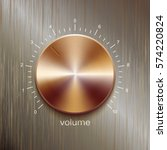 volume button  sound control ... | Shutterstock .eps vector #574220824