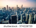 aerial view of chicago city... | Shutterstock . vector #574228720