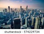 Aerial View Chicago City Skyline - Fine Art prints