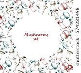 mushrooms arranged in frame | Shutterstock .eps vector #574231498