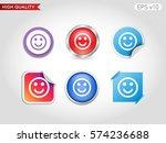 smile icon. button with smile...