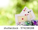 Cards Of Poker And Chips From...