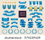 vector collection of decorative ... | Shutterstock .eps vector #574239109