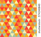 triangle colorful seamless... | Shutterstock .eps vector #574240840