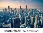 chicago skyline  usa | Shutterstock . vector #574240864