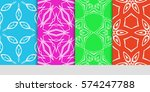 set of seamless lace floral... | Shutterstock .eps vector #574247788