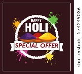 holi colorful design vector . | Shutterstock .eps vector #574249036