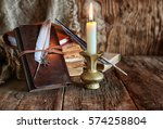 Feather And Book Novel Close T...