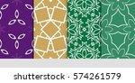 set of decorative floral...   Shutterstock .eps vector #574261579