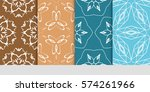 set of floral ornament.... | Shutterstock .eps vector #574261966