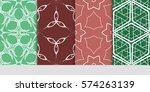 set of flower  geometric...   Shutterstock .eps vector #574263139