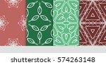 set of flower  geometric... | Shutterstock .eps vector #574263148