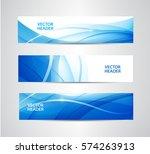 vector set of abstract blue... | Shutterstock .eps vector #574263913