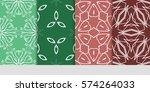 set of flower  geometric...   Shutterstock .eps vector #574264033