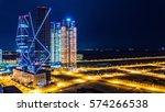night cityscape at songdo...   Shutterstock . vector #574266538