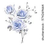 watercolor flowers. floral... | Shutterstock . vector #574269664