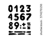 black handwritten numbers on... | Shutterstock .eps vector #574270150