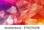 polygonal abstract background... | Shutterstock .eps vector #574270258