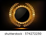 gold labels award .empty space... | Shutterstock .eps vector #574272250