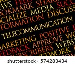 telecommunication word cloud ... | Shutterstock .eps vector #574283434