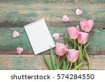 Background With Pink Tulips ...