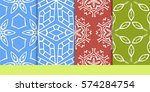 set of seamless texture of... | Shutterstock .eps vector #574284754