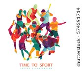 color sport background.... | Shutterstock .eps vector #574291714