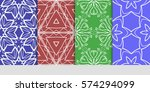 set of seamless lace floral...   Shutterstock .eps vector #574294099