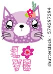 cute cat | Shutterstock .eps vector #574297294