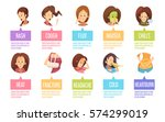 colored and isolated cartoon... | Shutterstock .eps vector #574299019