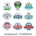 football  soccer club vector... | Shutterstock .eps vector #574299454