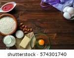 ingredients for preparation of... | Shutterstock . vector #574301740