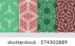 set of decorative geometric... | Shutterstock .eps vector #574302889