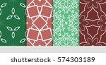 set of decorative geometric...   Shutterstock .eps vector #574303189
