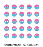 set of colourful emoticon... | Shutterstock .eps vector #574303624