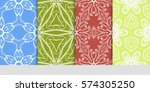 set of decorative floral... | Shutterstock .eps vector #574305250