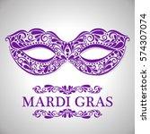 mardi gras lettering.... | Shutterstock .eps vector #574307074