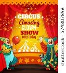 travel circus amazing show...   Shutterstock .eps vector #574307896