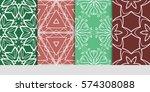 set of decorative geometric... | Shutterstock .eps vector #574308088